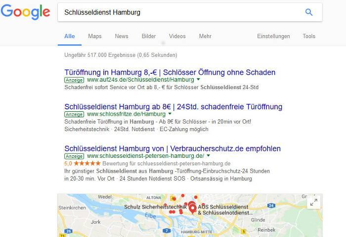 Beispiel Google AdWords