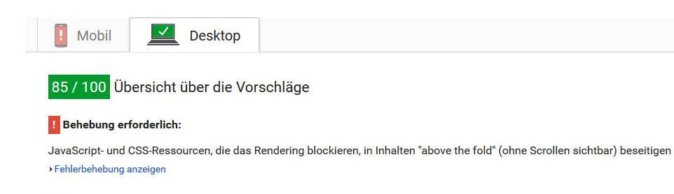 PageSpeed langsam